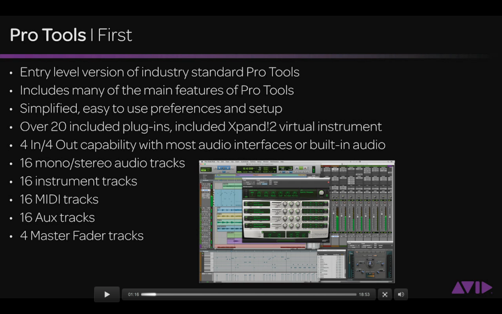 Pro-Tools First Features