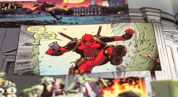 Deadpool Comic Web