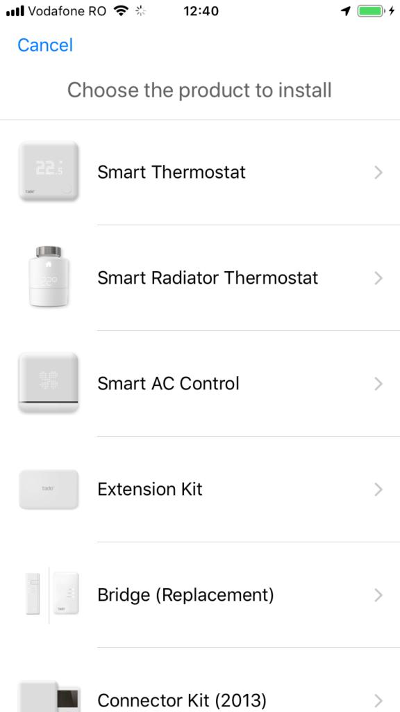 termostat tado setup